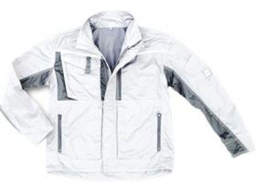 XL Bekleidung & Schutzausrüstung Arbeitsjacke Champ weiß-grau Gr