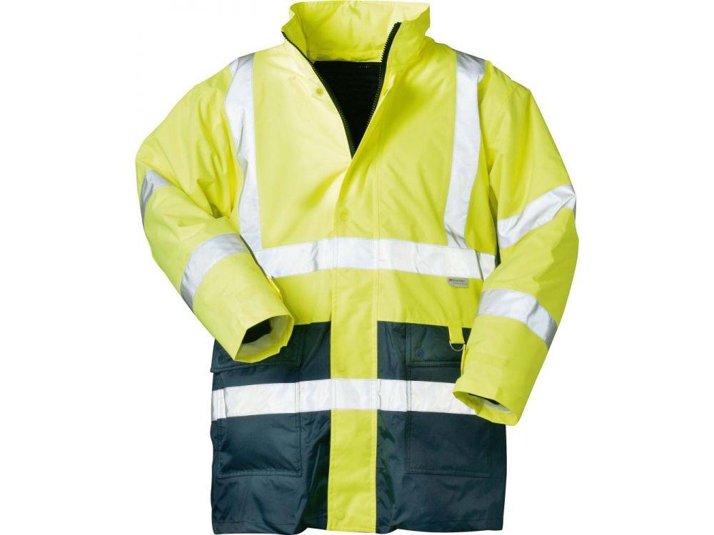 Warnschutzparka gelb-blau Gr L Bekleidung & Schutzausrüstung