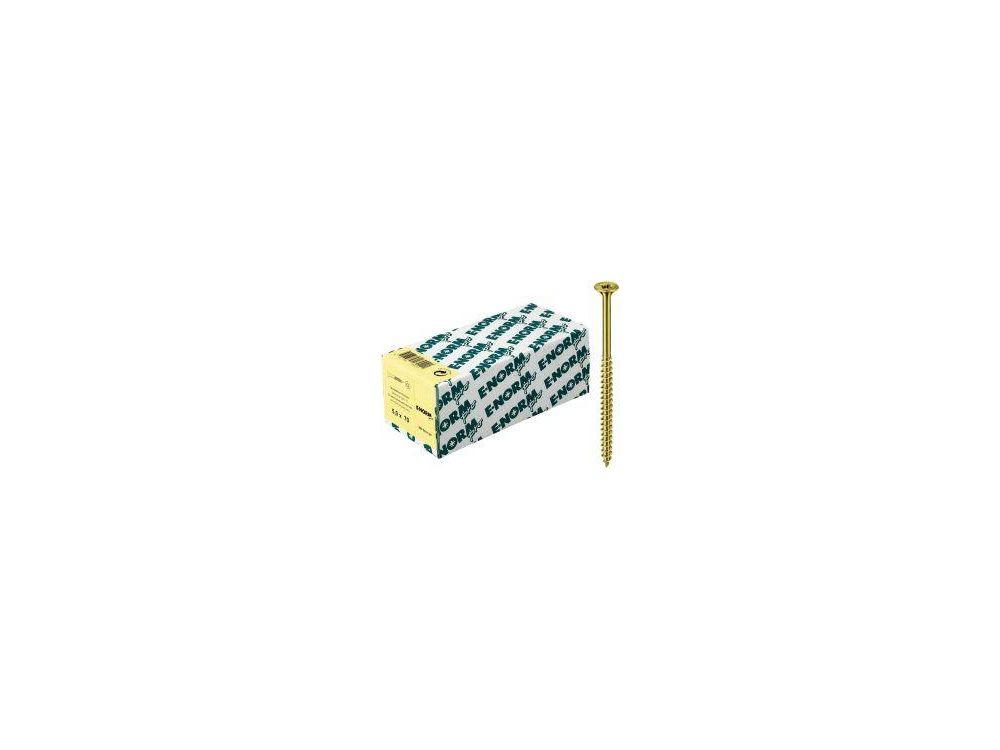 Spanplattenschrauben Senkkopf Teilgewinde Pozidrive E-NORMpro Abmessung:6,0 x 150/72mm Farbe:blau