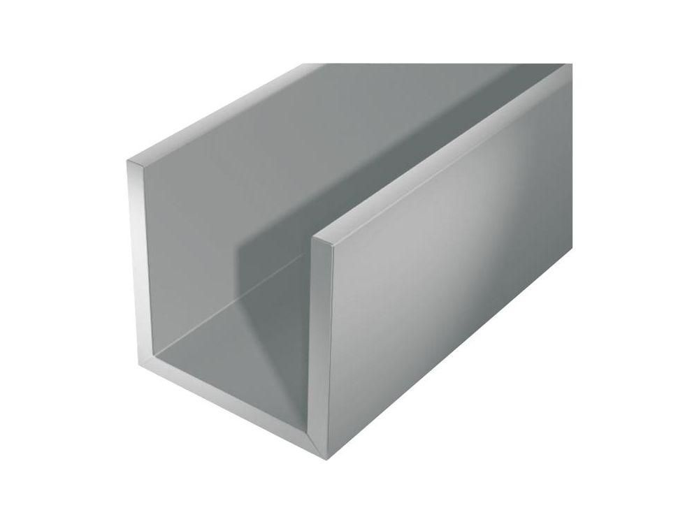 U-Profil silberfarbig Aluminium Abmessung:2000 ...