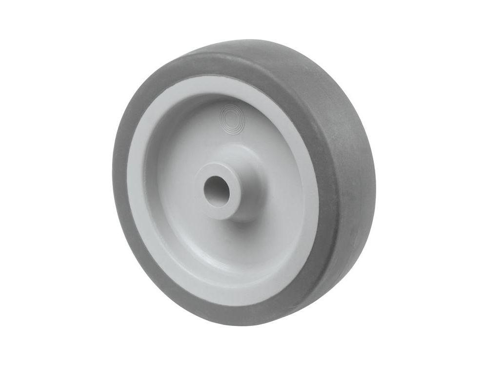 A80 100 BS Rollen Gummirad 100mm grau Gleitlager