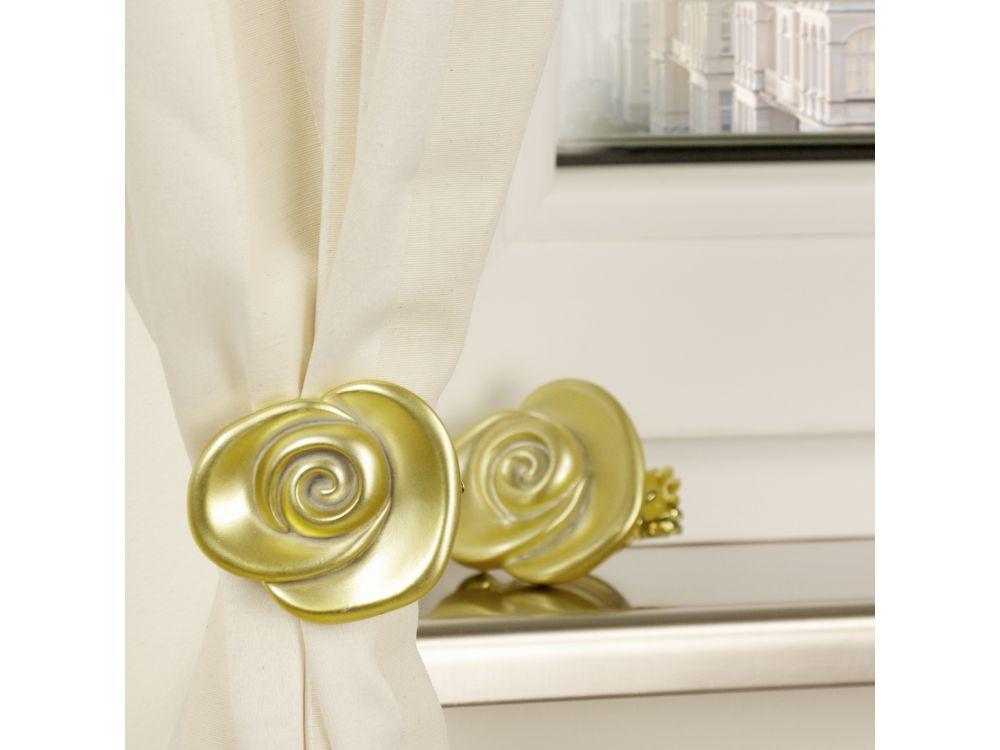 liedeco donauklammern motiv rose f r gardinenstangen kaufen. Black Bedroom Furniture Sets. Home Design Ideas