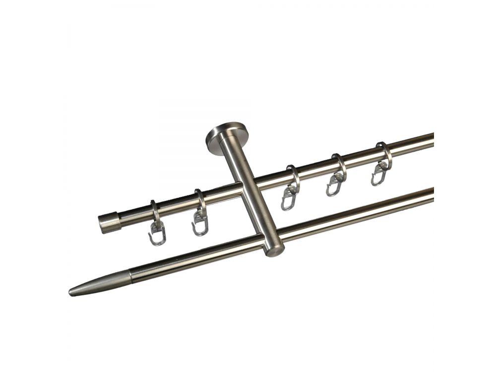 liedeco gardinenstange stick 12 mm stilgarnitur aus edelstahl kaufen. Black Bedroom Furniture Sets. Home Design Ideas