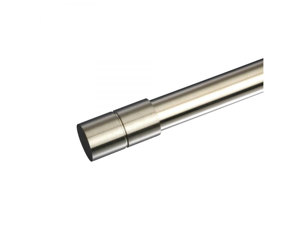 Endstück für Gardinenstangen Zylinder Inox/Messing ø 20 mm Farbe:messing massiv