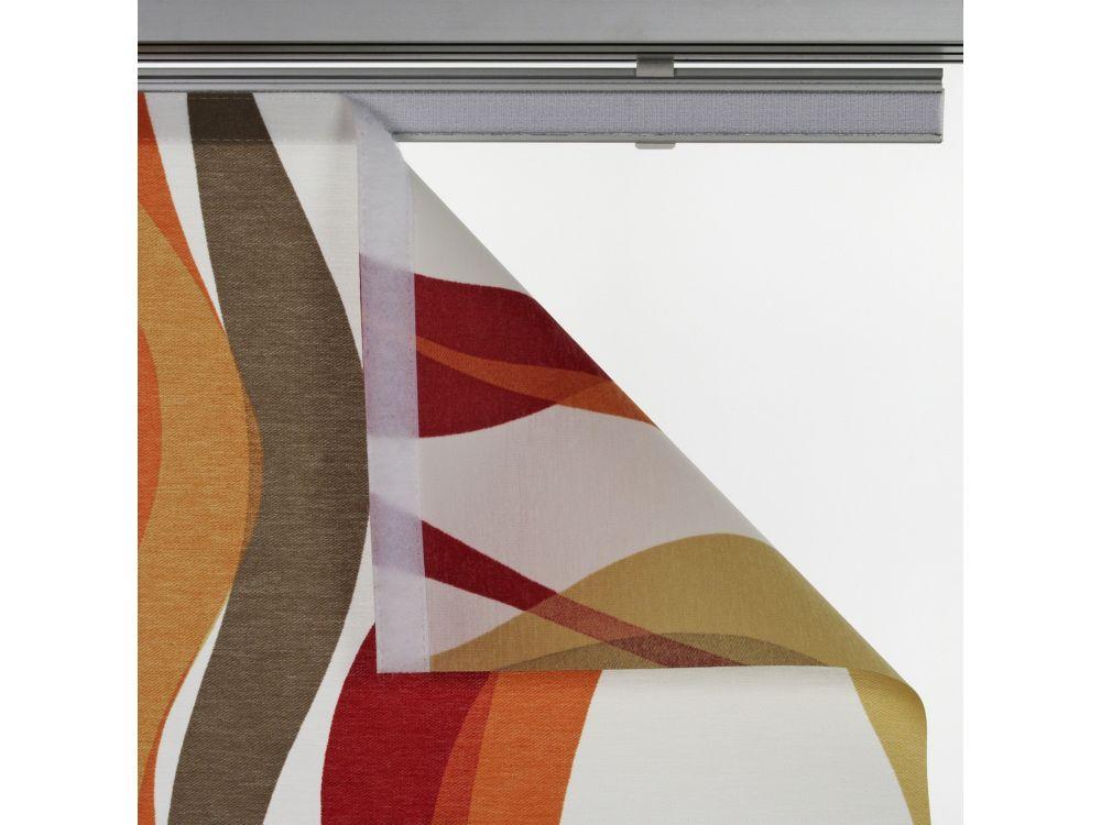 liedeco fl chenvorhang stoff pisa schiebevorhang rot kaufen. Black Bedroom Furniture Sets. Home Design Ideas