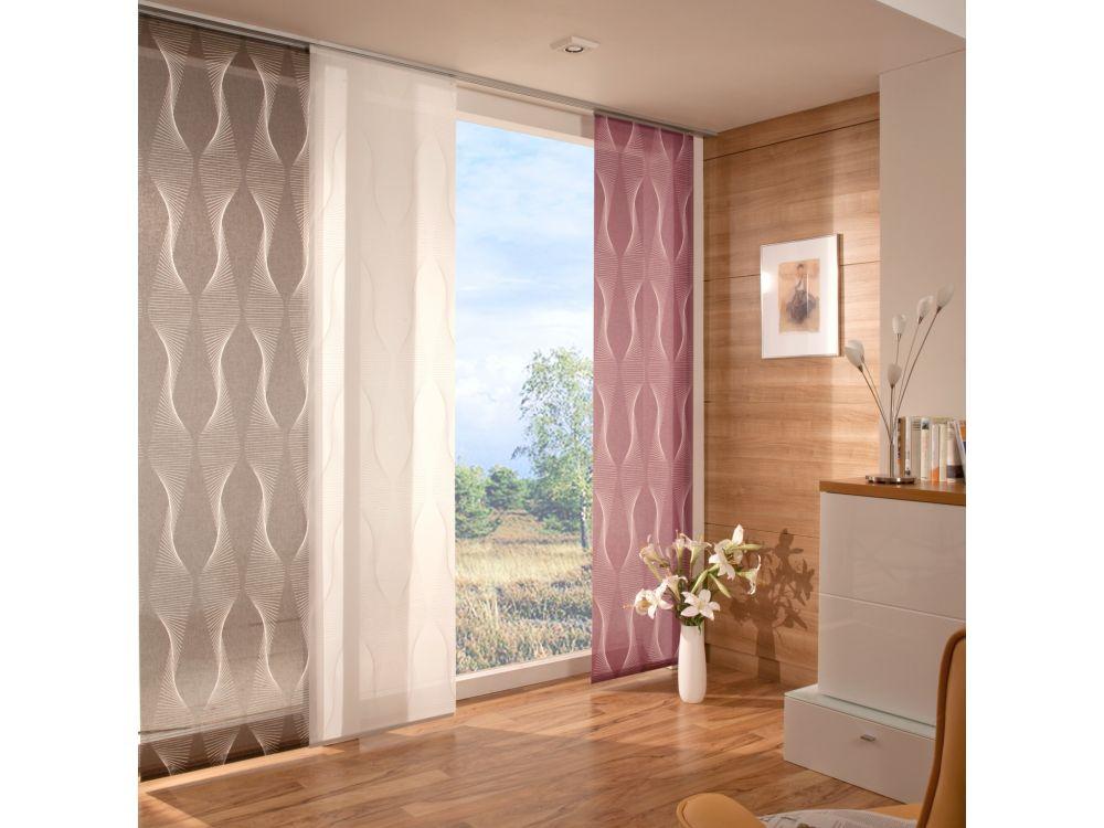 liedeco fl chenvorhang stoff malm schiebevorhang kaufen. Black Bedroom Furniture Sets. Home Design Ideas