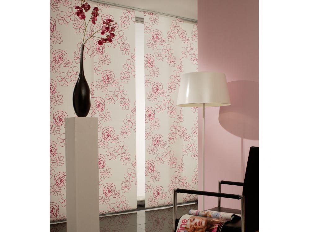 stoff schiebevorh nge als raumteiler pictures to pin on pinterest. Black Bedroom Furniture Sets. Home Design Ideas