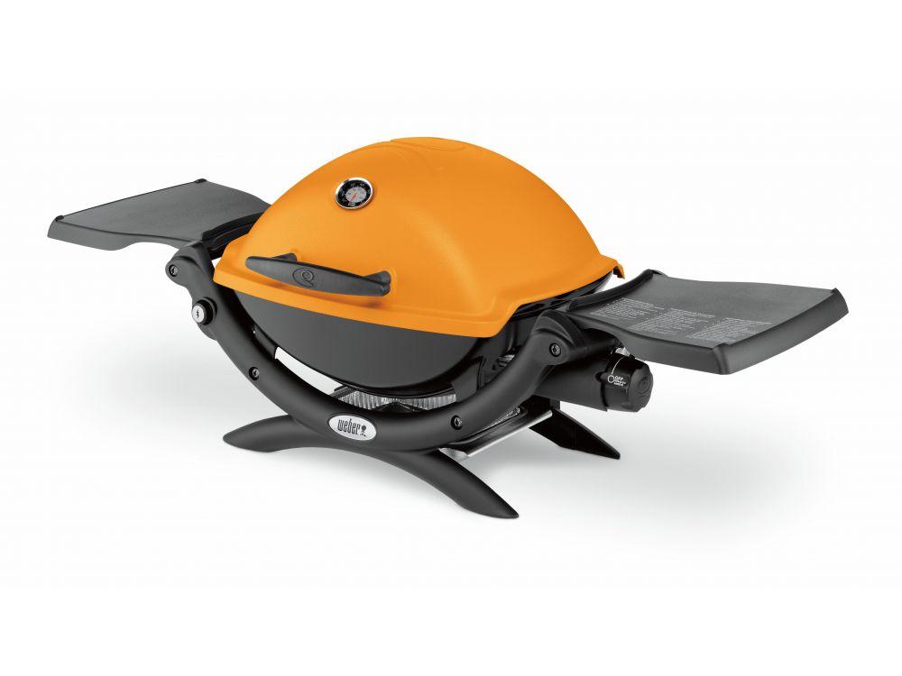 Weber Elektrogrill Thermometer : Weber q 1200 colorline mit deckelthermometer orange kaufen