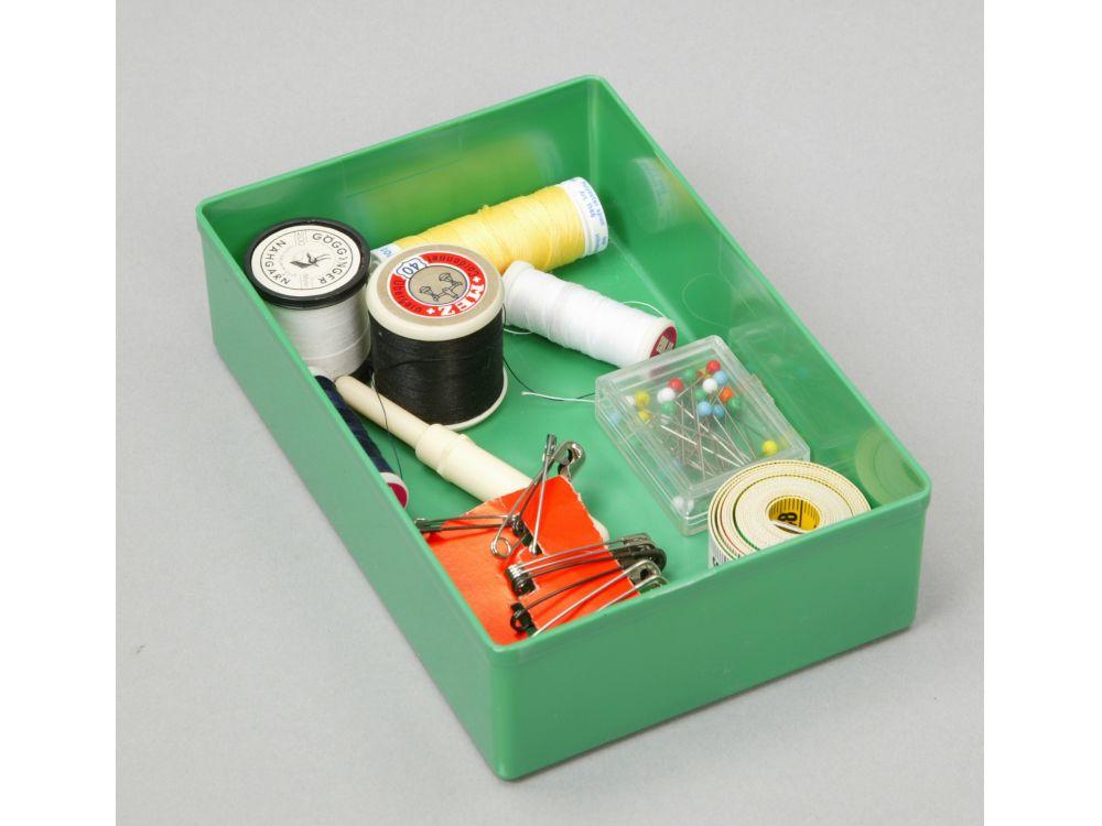 108x54x63 mm gelb Einsatzbox aus PS für Sortimentskasten Kleinteilmagazin