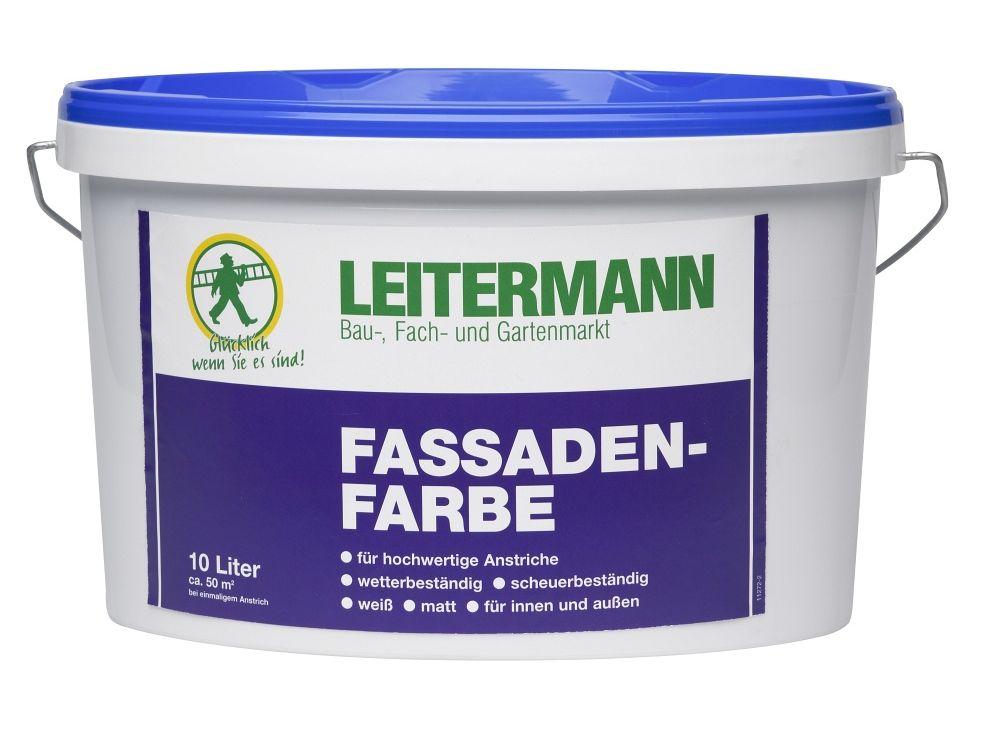 Leitermann Fassadenfarbe weiß Inhalt:2l