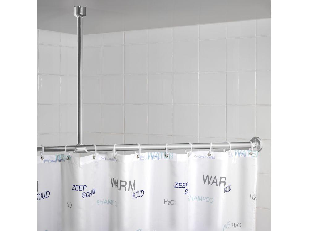 Deckenstütze für Duschstangen Farbe:Chrom-Weiß