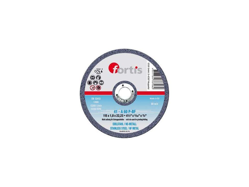 Trennscheibe Metall Inox FORTIS Durchmesser:115mm Stärke:1,0mm