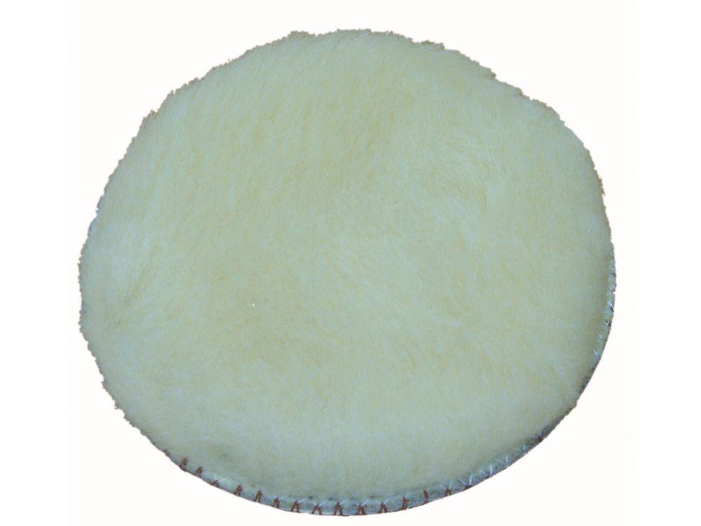 Woll-Polierhaube für Kletthaftteller (ohne Zwischenschicht) Durchmesser:125mm