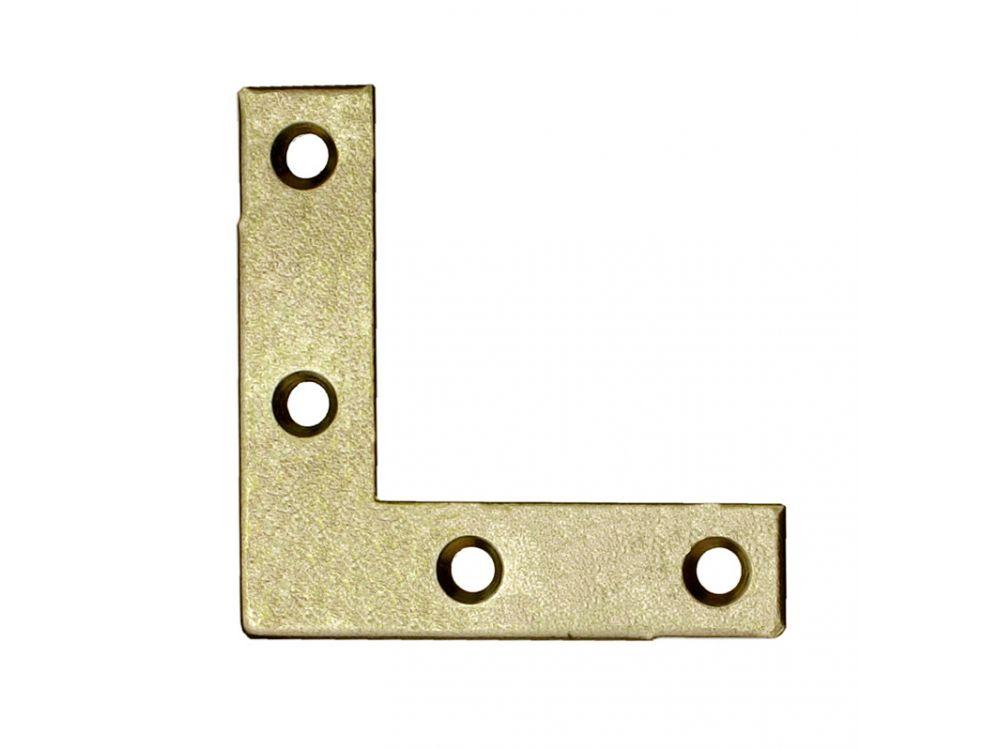 Möbelwinkel gelb verzinkt Ausführung:25x25x10mm