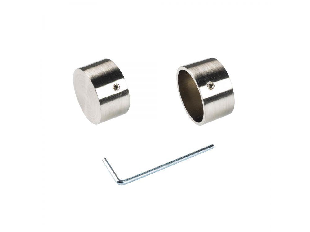 Endkappe 28 mm Klassik edelstahl Optik 2 Stück Ausführung:rund