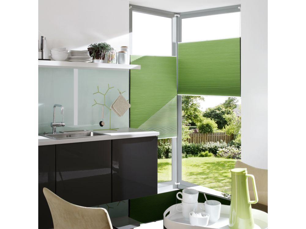 liedeco klemmfix thermo plissee verspannt wei 060 x 130. Black Bedroom Furniture Sets. Home Design Ideas