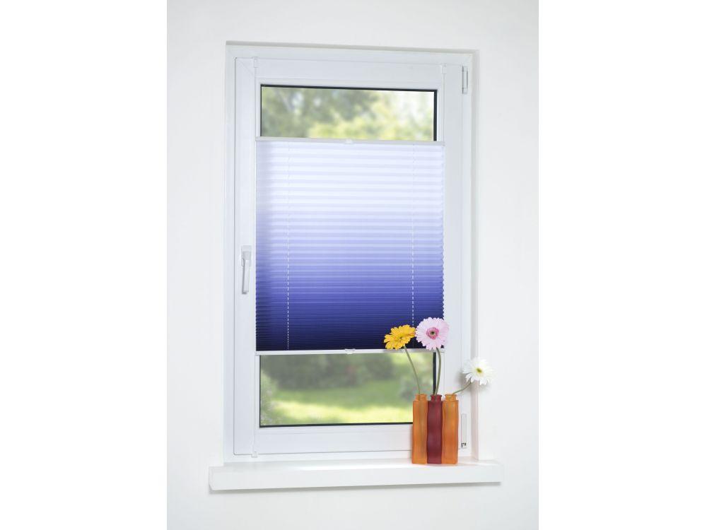 liedeco klemmfix plissee verspannt farbverlauf blau 90 cm 130 cm kaufen. Black Bedroom Furniture Sets. Home Design Ideas