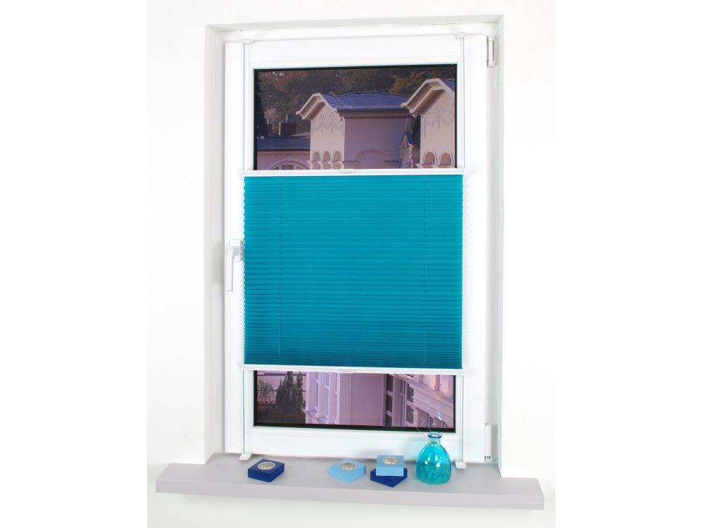 liedeco klemmfix plissee verspannt blue lagoon 75 cm 150 cm kaufen. Black Bedroom Furniture Sets. Home Design Ideas