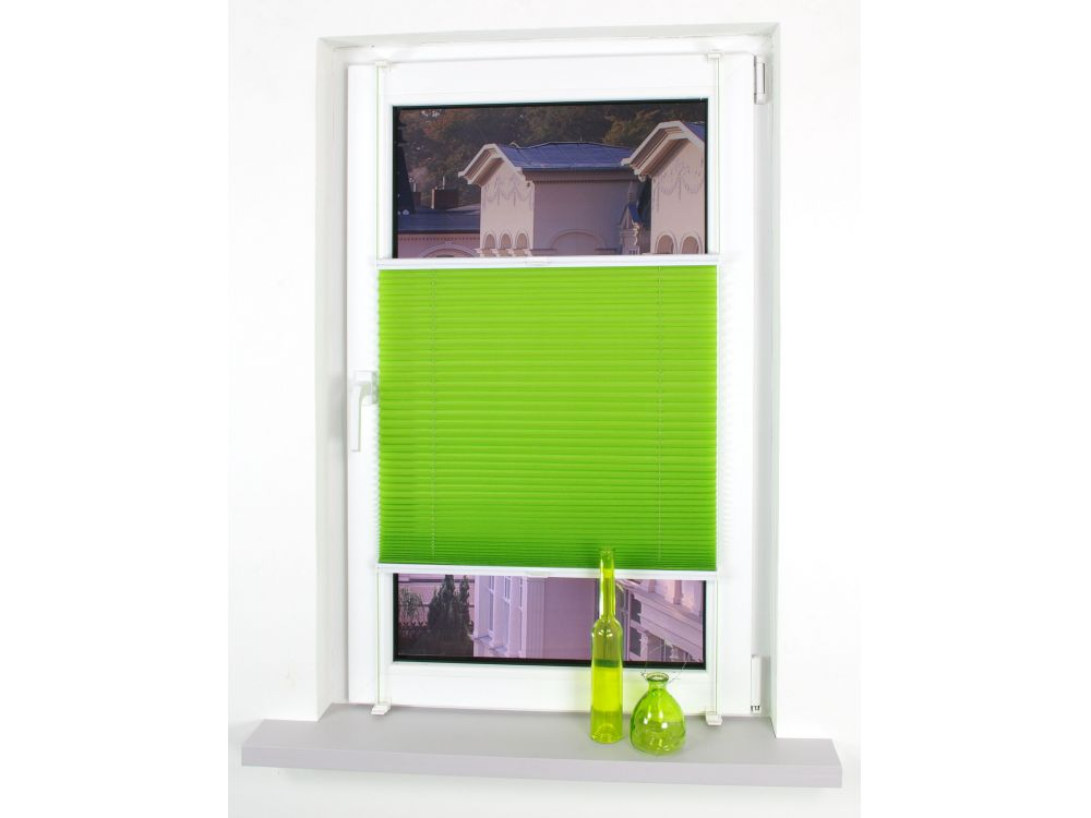 Plissee 80 Cm : liedeco klemmfix plissee verspannt apple green 80 cm 150 ~ Watch28wear.com Haus und Dekorationen