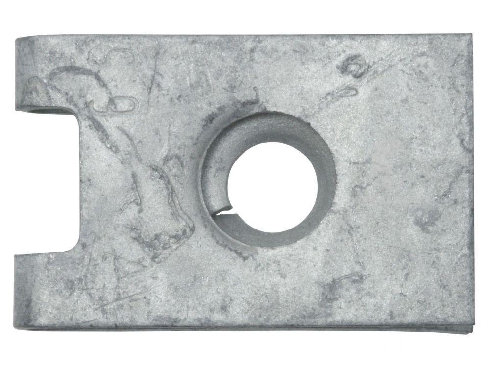 0,7-1,5 mm Federstahl verzinkt  100 Stück Ramses Blechmutter 6,3