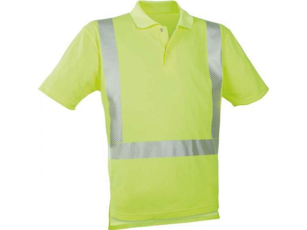 Warn-Polo-Shirt Größe:XXL Farbe:leuchtgelb bei Handwerker-Versand.de