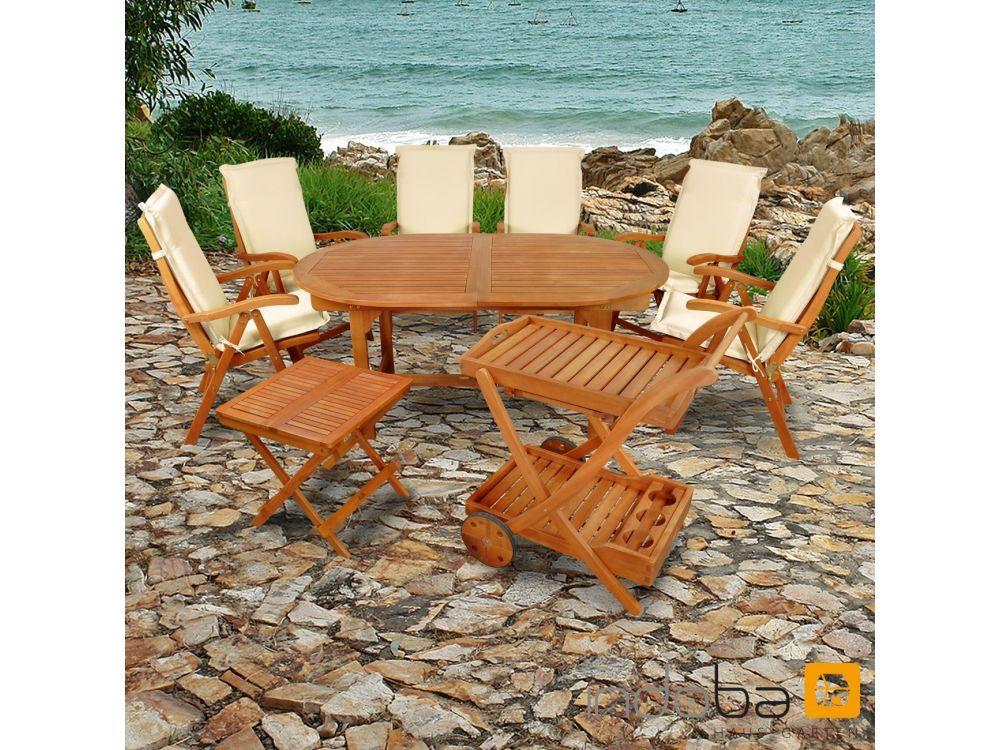 gartenm bel set 15teilig sun flair mit auflagen premium kaufen. Black Bedroom Furniture Sets. Home Design Ideas