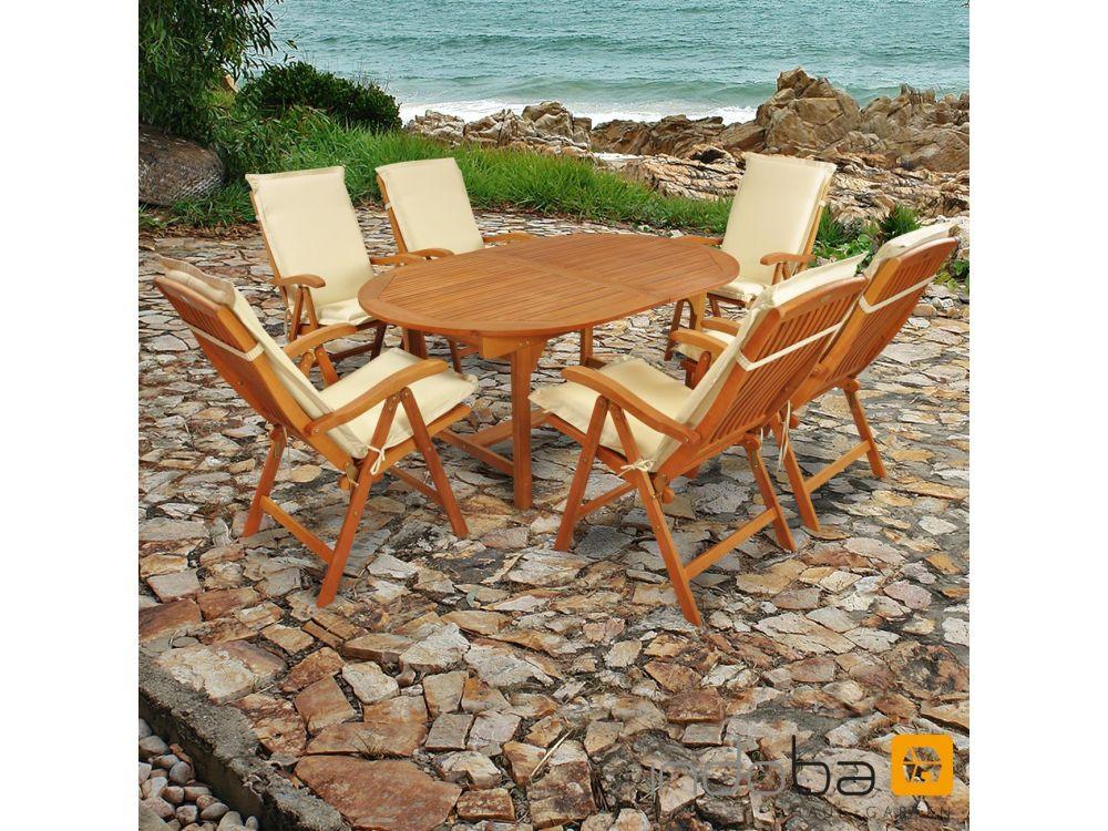gartenm bel set 13teilig sun flair mit auflagen premium kaufen. Black Bedroom Furniture Sets. Home Design Ideas