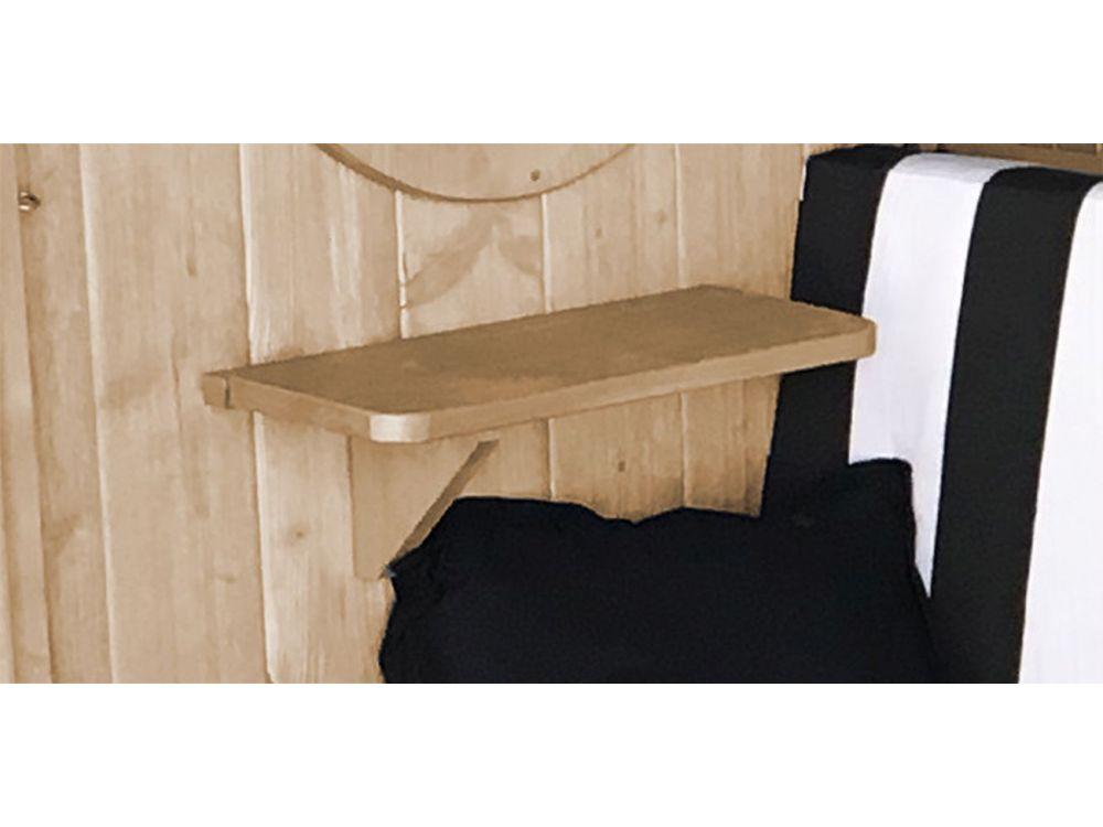 seitliches ablageset aus holz f r laube bozen und merano kaufen. Black Bedroom Furniture Sets. Home Design Ideas