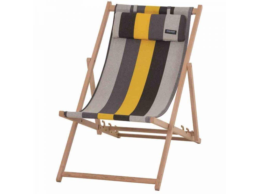 2 MADISON Strandstühle Victoria Gelb 114x56x7 cm Liegestuhl Klappstuhl klappbar